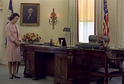 President Lyndon Johnson Telephones Print by Everett