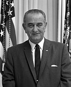 Lbj Prints - President Lyndon Johnson Print by War Is Hell Store
