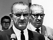 Thurgood Posters - President Lyndon Johnson With Supreme Poster by Everett