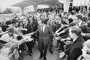 Shaking Prints - President Nixon Shaking Hands With Cia Print by Everett