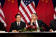 President Obama And Chinese President Print by Everett