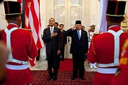 Uniforms Art - President Obama And Indonesias by Everett