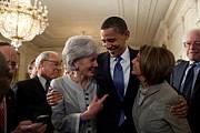 President Obama Embraces Health Print by Everett