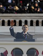 Historical Speech Posters - President Obama Gestures As He Delivers Poster by Everett