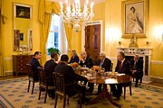 Arabs Photos - President Obama Hosts A Working Dinner by Everett