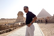 Barack Photo Framed Prints - President Obama Tours The Egypts Great Framed Print by Everett