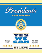44th President Digital Art Framed Prints - President Obama Yes We Can Soup Framed Print by NowPower -