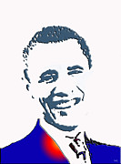 Barack Obama Photo Framed Prints - president of the United States Framed Print by Robert Margetts