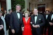 Nancy Posters - President Reagan And Nancy Reagan Poster by Everett