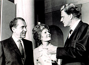 Chatting Photo Posters - President Richard M. Nixon & First Lady Poster by Everett