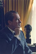 White House Framed Prints - President Richard Nixon Framed Print by Everett