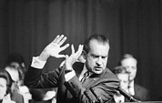 Speeches Metal Prints - President Richard Nixon Gesturing Metal Print by Everett
