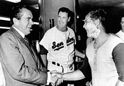 Ted Williams Photo Prints - President Richard Nixon Greets Print by Everett