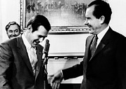 Rumsfeld Posters - President Richard Nixon With Rep Poster by Everett