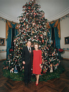 First Lady Photo Framed Prints - President Ronald Reagan, First Lady Framed Print by Everett