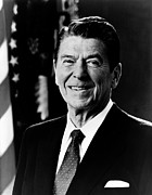 Ronald Reagan Photo Posters - President Ronald Reagan Poster by International  Images