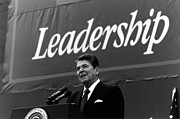 Ronald Reagan Posters - President Ronald Reagan Leadership Photo Poster by War Is Hell Store