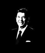 Presidents Digital Art - President Ronald Reagan by War Is Hell Store