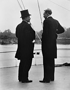 1901 Posters - President Roosevelt And Gifford Pinchot Poster by Photo Researchers