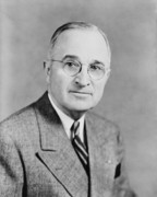 World War 2 Products Posters - President Truman Poster by War Is Hell Store