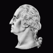 Founding Fathers Digital Art - President Washington Bust  by War Is Hell Store