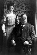 """william Howard Taft""  Posters - President William Howard Taft with daughter Poster by International  Images"