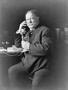 Us Presidents Prints - President William Taft 1857-1930 Using Print by Everett