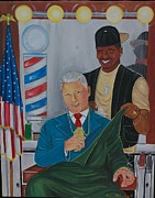 Bill Clinton Painting Prints - presidental Pride Print by Mccormick  Arts