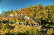 Steam Train Prints Art - Presidential Passenger Train by Ken Smith