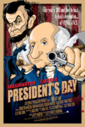 U S Flag Digital Art Prints - Presidents Day The Movie Print by David E Wilkinson
