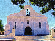 Mission Framed Prints - Presido Chapel San Elizario Texas Framed Print by Kurt Van Wagner