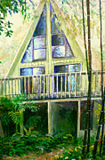 Bamboo House Painting Framed Prints - Presley House Framed Print by Lou Ann Bagnall