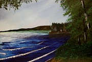 Green Day Paintings - Presque Isle Lake by Karl Van Order