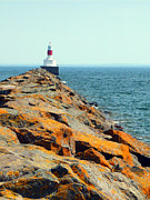 J.p. Prints - Presque Isle Lighthouse in Marquette MI Print by Mark J Seefeldt