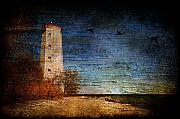 Canada Digital Art Posters - Presquile Lighthouse Poster by Lois Bryan