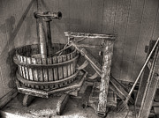 Winery Photography Posters - Press and Scale Poster by William Fields