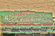 Boston Red Sox Metal Prints - Press Box 2 Metal Print by Jonathan Harper