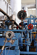 Natural Gas Framed Prints - Pressure Dials, Natural Gas Industry Framed Print by Ria Novosti