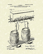 Beer Metal Prints - Pressure System 1900 Patent Art  Metal Print by Prior Art Design
