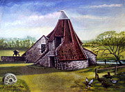 Bluesky Painting Prints - Preston Mill dunbar Scotland Print by James Richardson