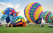 Hot Air Balloon Prints - Pretty Balloons Print by Bill Pevlor