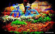 Pretty Bicycle Print by Diane montana Jansson