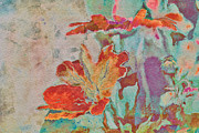 Textured Floral Prints - Pretty Bouquet - a09z7bt2 Print by Variance Collections