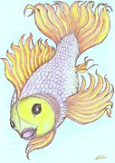 Pretty Drawings Originals - Pretty Fishy by Desley Brkic