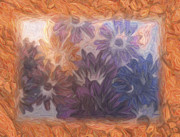 Cobblestone Prints - Pretty Flowers Print by Trish Tritz