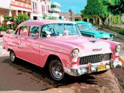 Vintage Car From Cuba Posters - Pretty In Pink Poster by Dominic Piperata