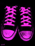 Foot Wear Prints - Pretty In Pink Print by Ed Smith