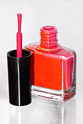 Bottle Brush Photos - Pretty In Pink Finger Nail Polish by Tracie Kaska
