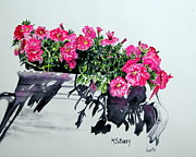 Greece Painting Originals - Pretty in Pink by Maria Barry