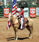Photos Of Rodeo Events Posters - Pretty in Red White and Blue Poster by Cheryl Poland